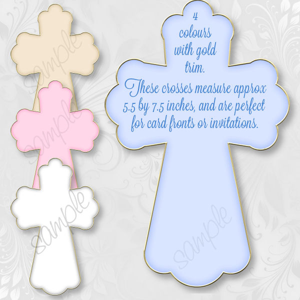 Christening Blue Cross Clipart - Clipart Kid