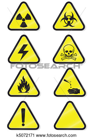 Clipart   Set Of Chemical Warning Signs   Fotosearch   Search Clip Art