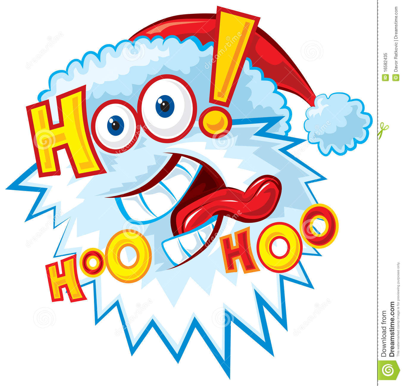 Crazy Santa   Hoo Hoo Hoo Royalty Free Stock Photo   Image  16582435