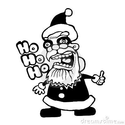 Crazy Santa Royalty Free Stock Photo   Image  16400885