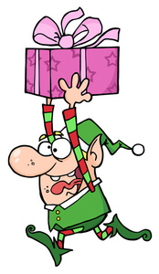Elf Cartoon Clipart Image   Crazy Little Cartoon Elf Running Around