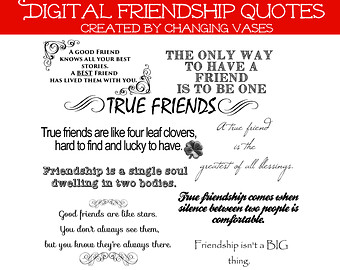 Friendship Word Art Colle Ction 10 Quotes Words And Phrases Clip Art
