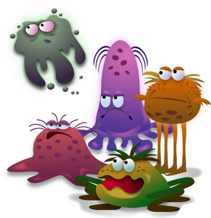 Funny Germs Clipart - Clipart Kid