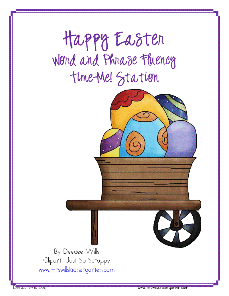 Kiddos I Thought I Would Add Some Easter Themed Clip Art And Wah Lah