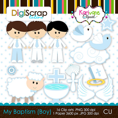 Larger Image My Baptism Boy   3 00 16 Cliparts In Png Format 1 Digital
