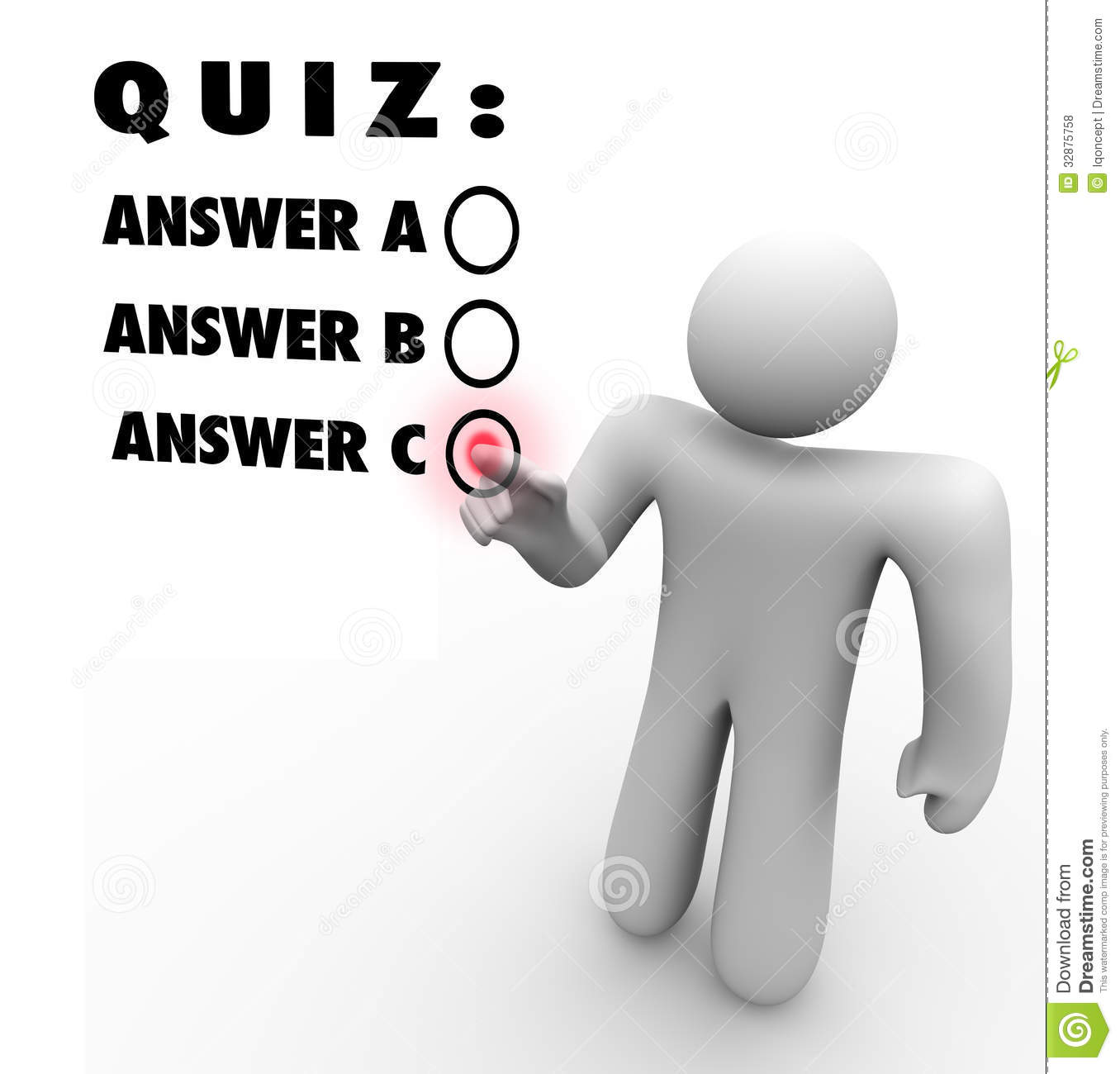 Quiz Multiple Choice Choosing Best Answer Test Words Several Answers