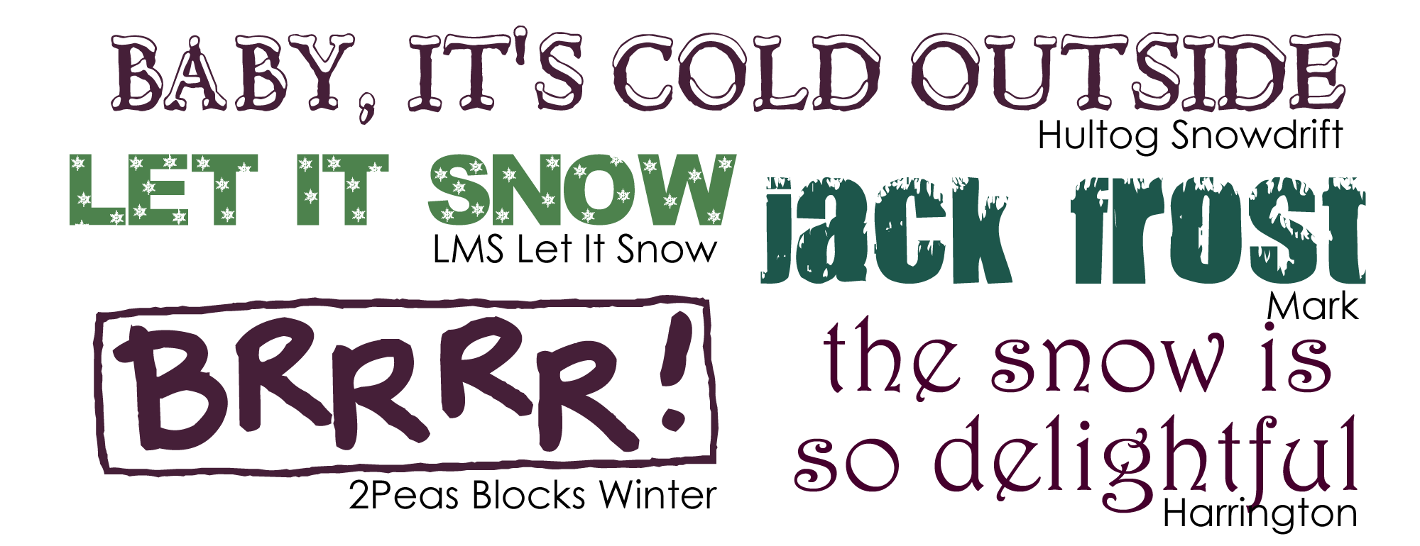 Scrapbooking Themes Quickstart  Winter Images Sayings And Fonts
