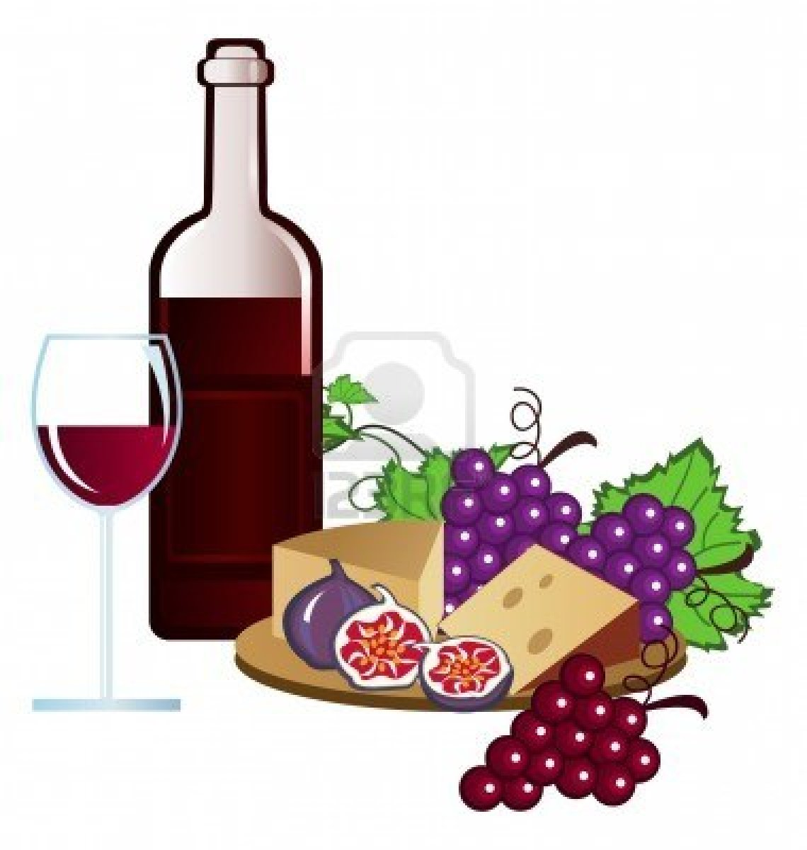 Image result for clip art food and wine