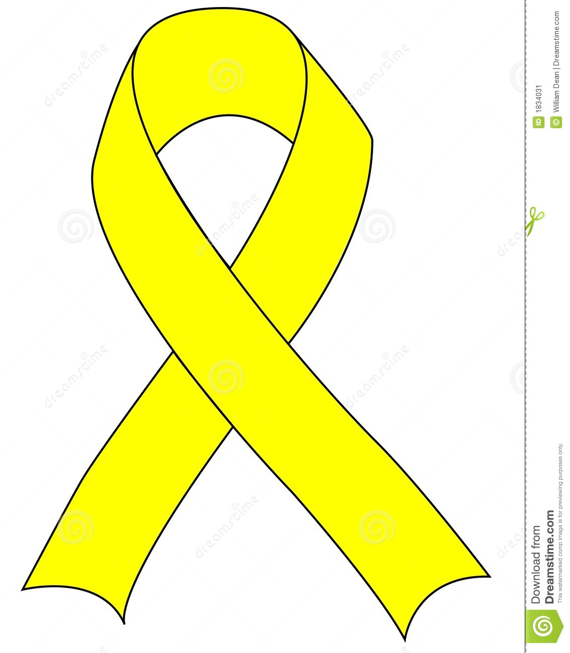 Yellow Ribbon Cancer Yellow Ribbon Signifying