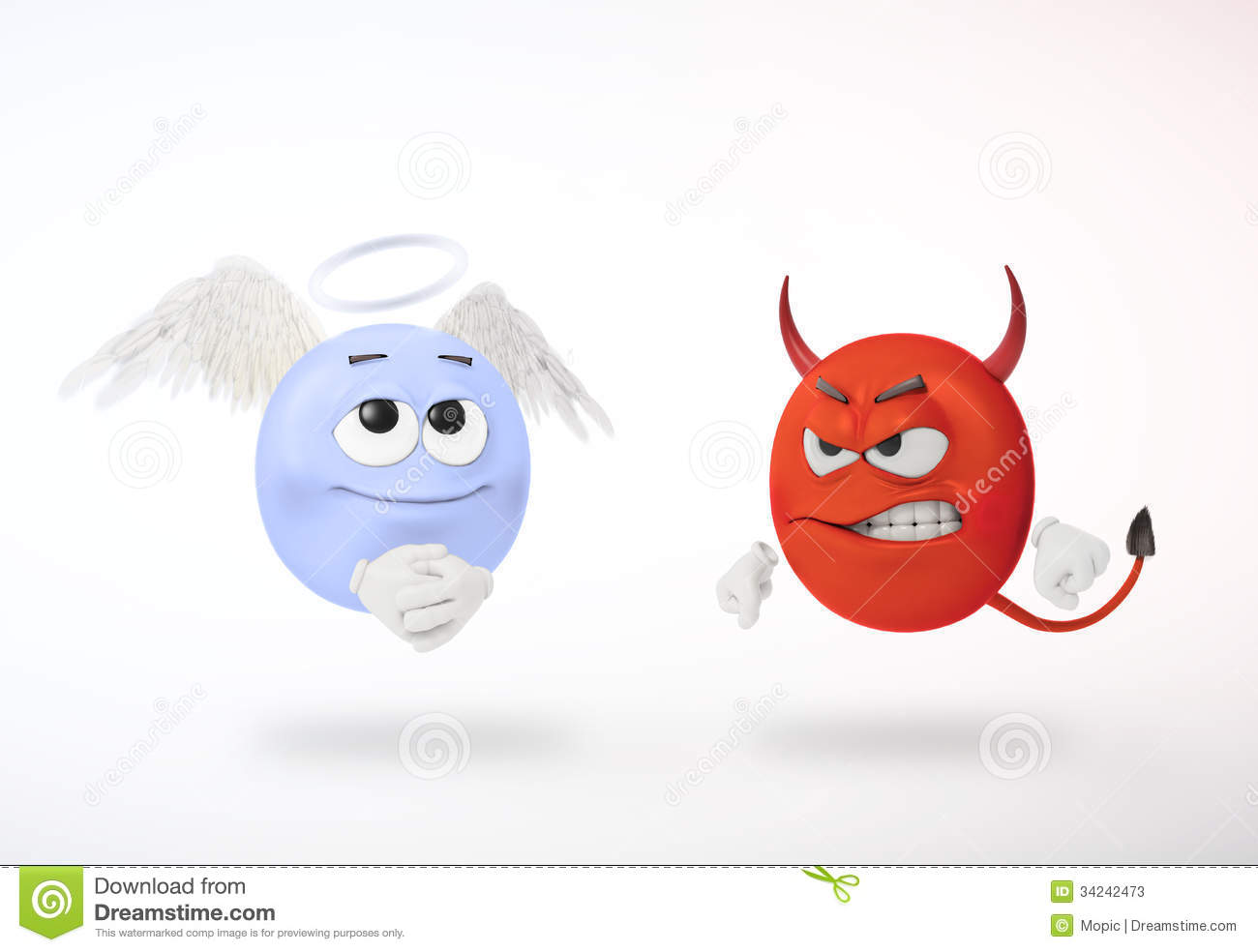 Angel And Devil Stock Photos   Image  34242473
