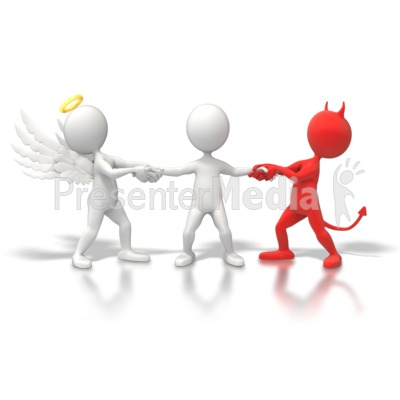 Angel Devil Tug War   Home And Lifestyle   Great Clipart For