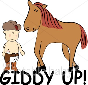 Baby Cowboy With Horse Clipart   Cowboy Baby Clipart