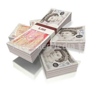British Pounds Money Three Bundles Business And Finance Great