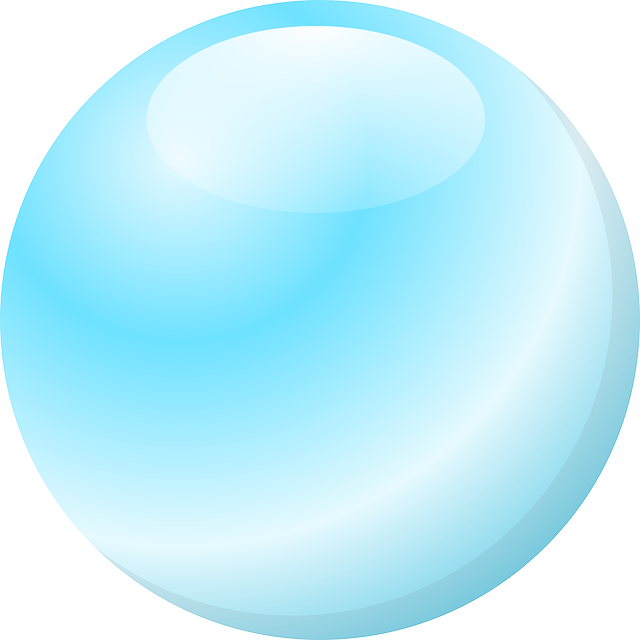 Bubble Circle Glossy Blue Air Water Drop