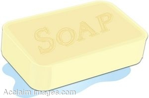 Clip Art Of A Bar Of Bath Soap