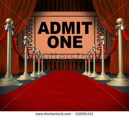 Entertainment On The Red Carpet Theatrical Cinema Concept With An