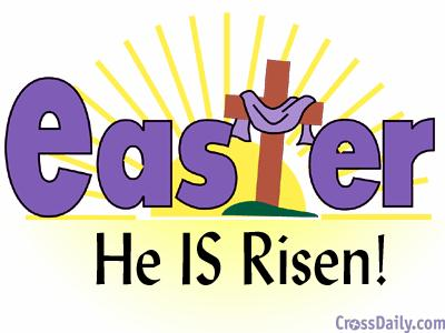 He Is Risen Clipart - Clipart Suggest