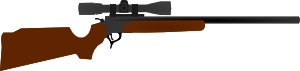 Huting Rifle With Scope Clip Art At Clker Com   Vector Clip Art Online