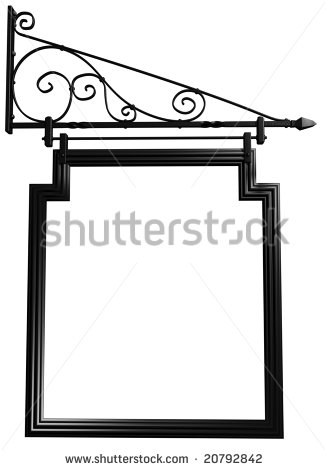 Illustration Of An Isolated Blank Pub Sign   Stock Photo