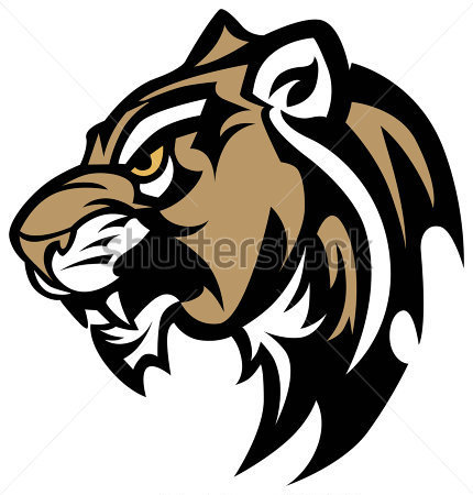 Panther Mascot Vector Clip Art