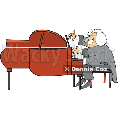 Playing A Piano   Royalty Free Vector Clipart   Dennis Cox  1197990