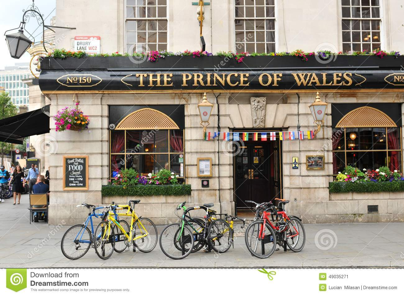 Prince Of Wales Traditional British Pub In Central In Central London