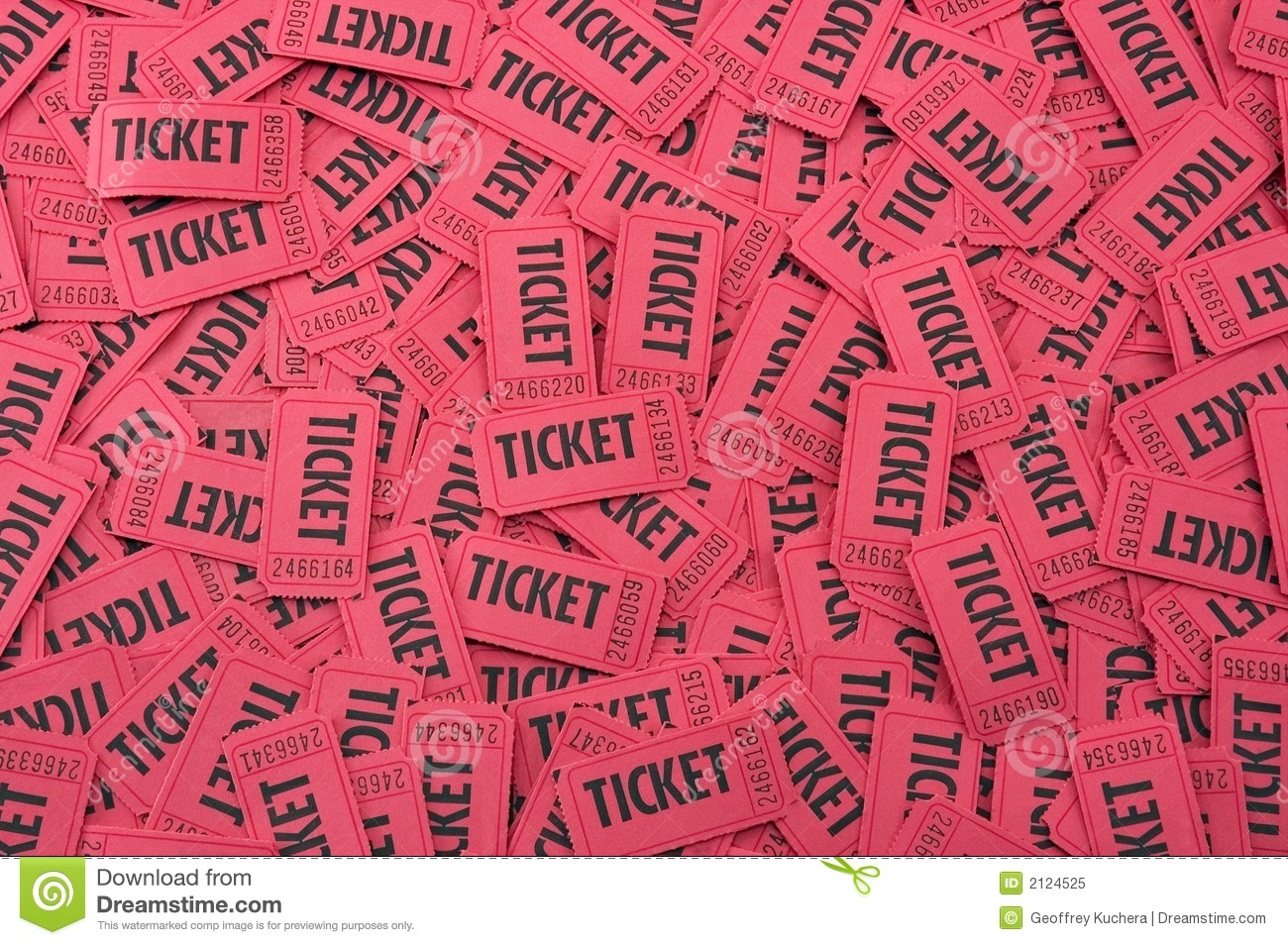 Red Raffle Tickets Clipart Pile Of Red Tickets Horizontal Royalty Free