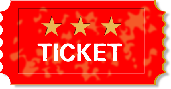 Red Ticket Clip Art