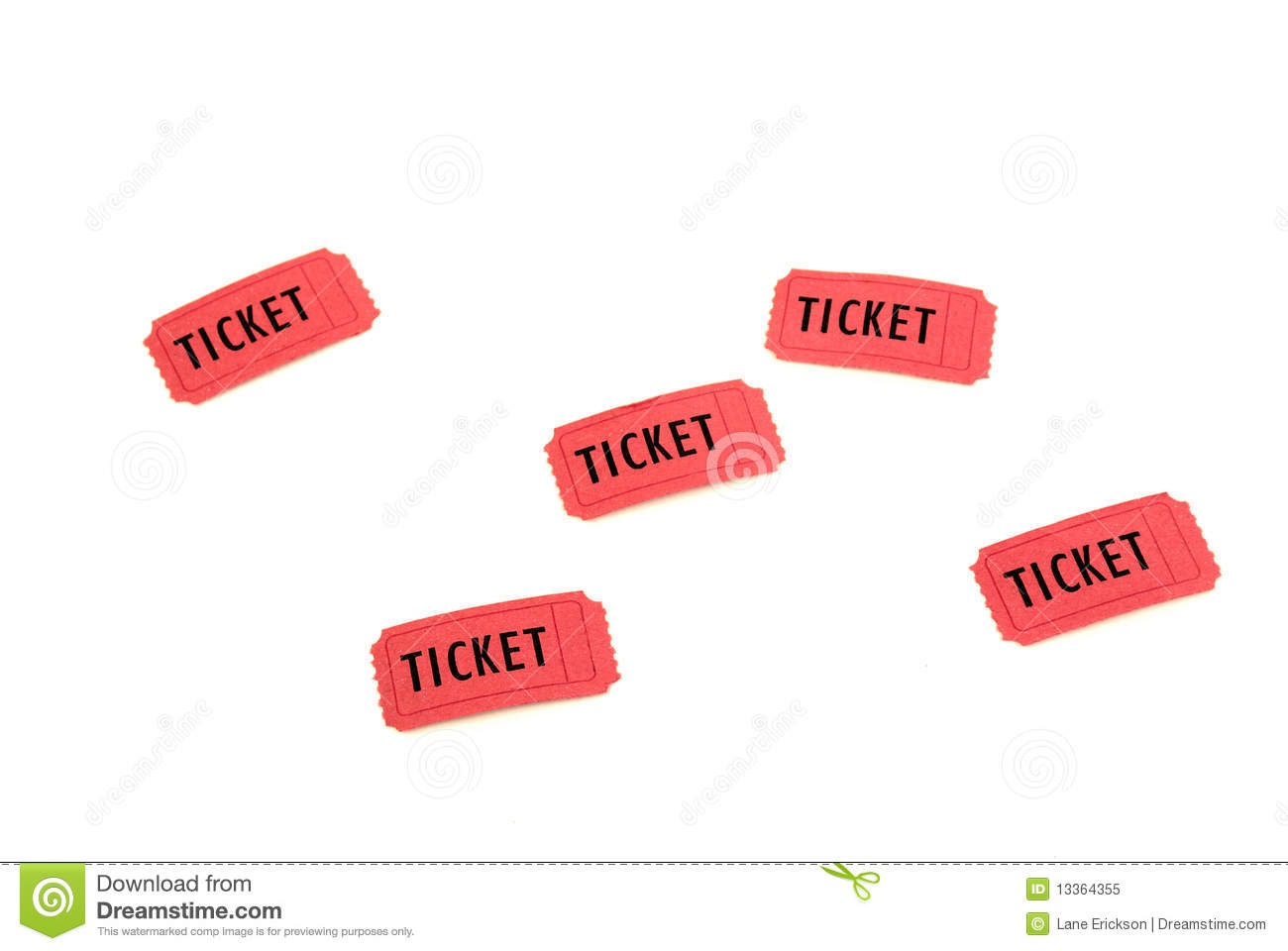 Red Tickets Royalty Free Stock Photo   Image  13364355