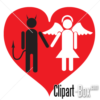 Related Love Devil And Angel Cliparts