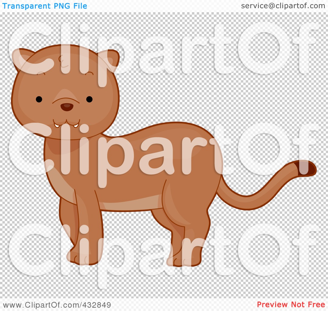 Royalty Free  Rf  Clipart Illustration Of A Cute Baby Cougar By Bnp