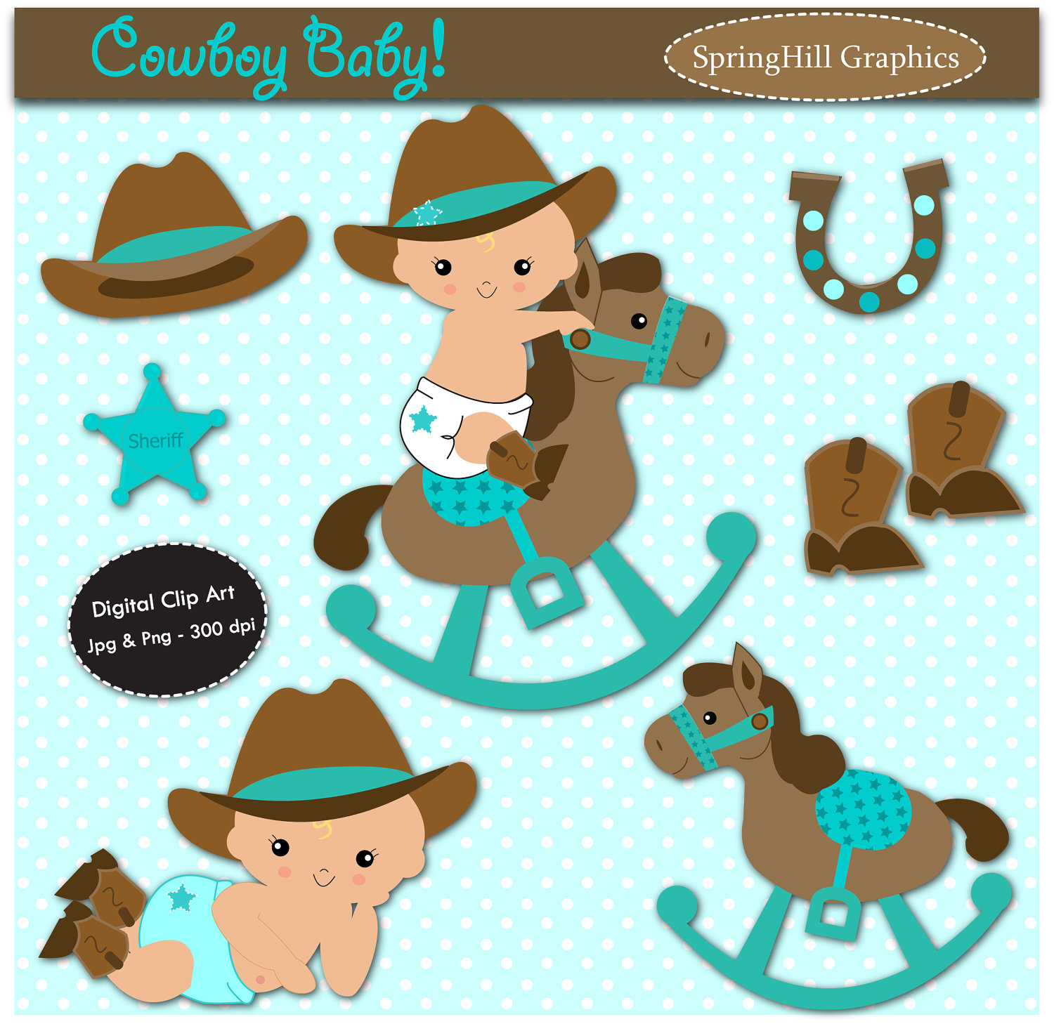 Unavailable Listing On Etsy: Baby Rocking Horse Clipart