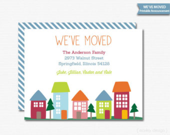 We 39 ve moved clipart clipart suggest for We have moved cards templates
