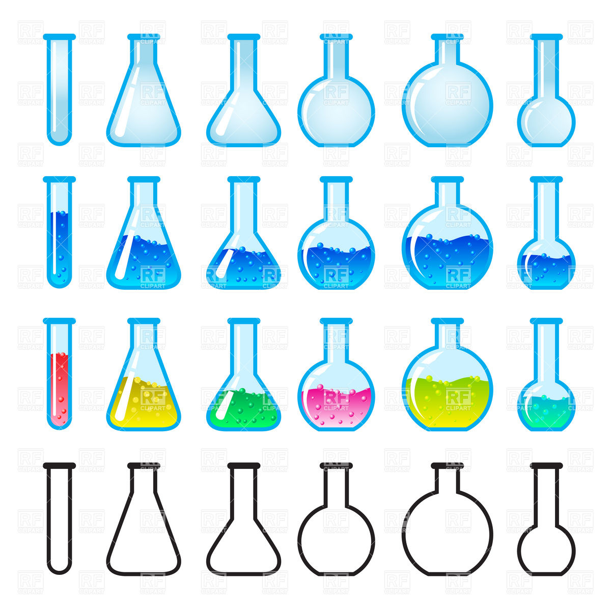 And Test Tubes 8045 Download Royalty Free Vector Clipart  Eps