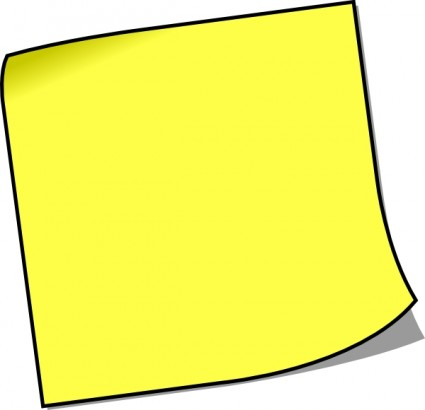 Blank Sticky Note Clip Art Free Vector In Open Office Drawing Svg
