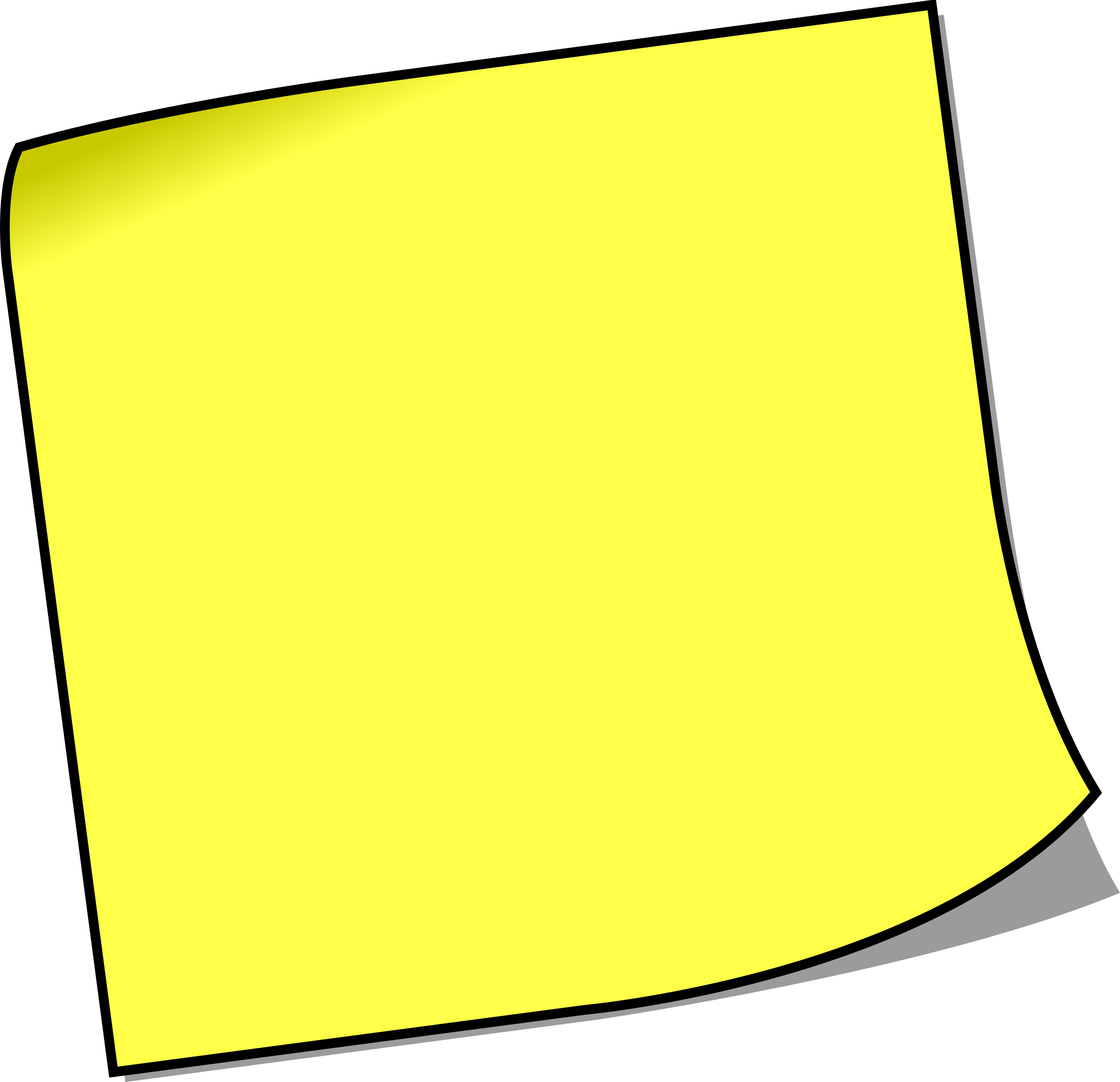 Blank Sticky Note Clipart
