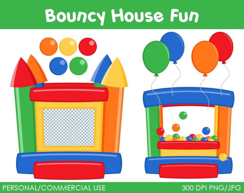 Clip Art Bounce House Clipart bounce house clipart kid bouncy fun digital clip art by mareetruelove