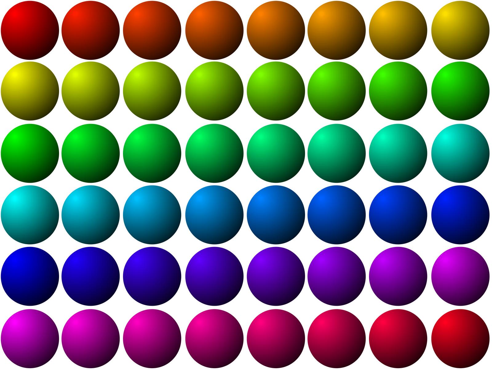 Colored Dots Clip Art - Cliparts