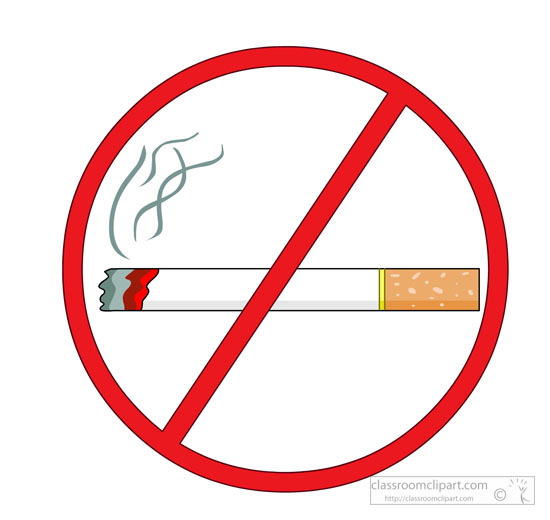 Download Red No Smoking Sign Showing Cigarette Clipart 5723