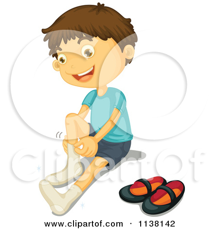 Putting On Socks Clipart - Clipart Kid