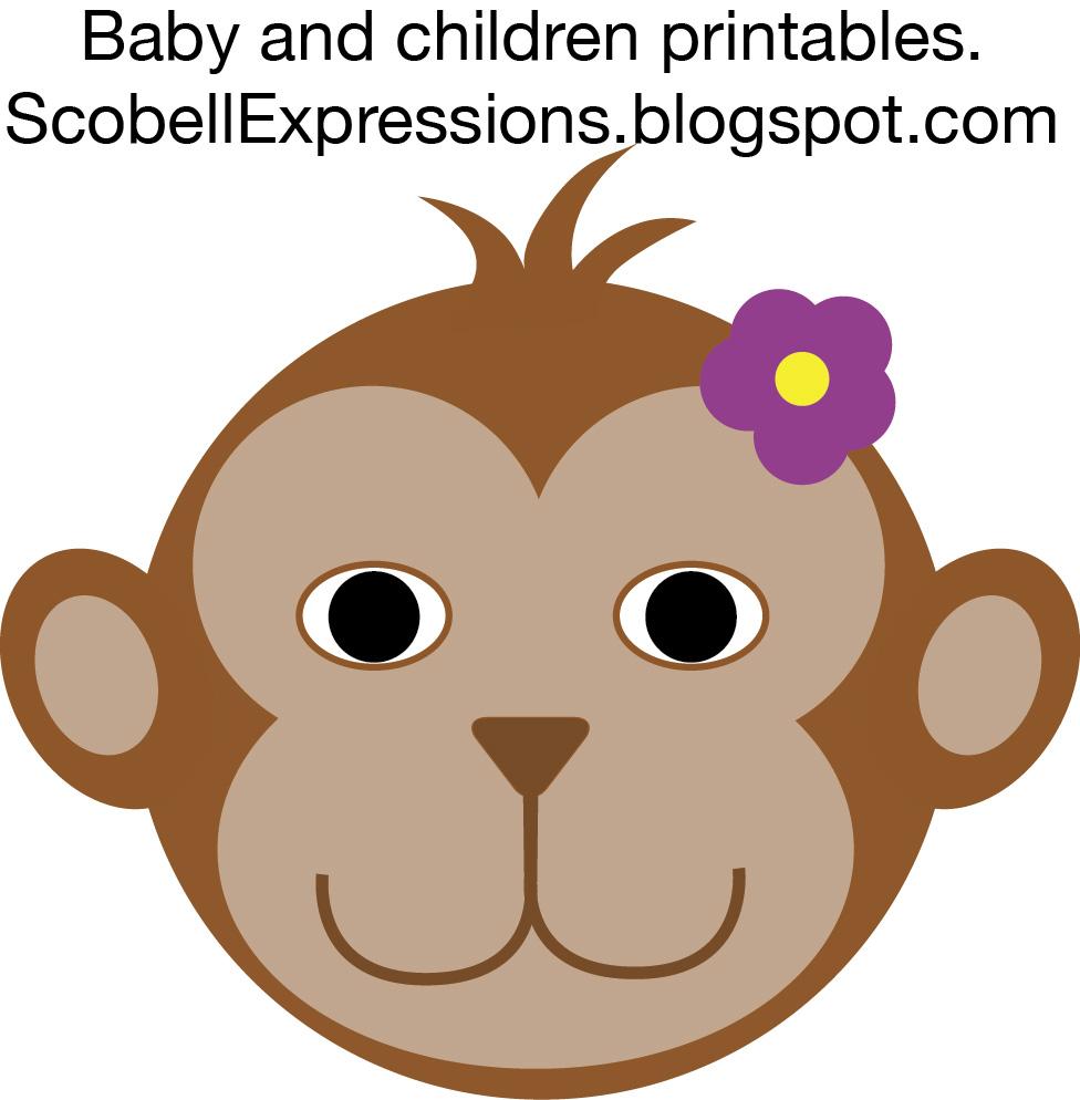 Cartoon girl monkey face