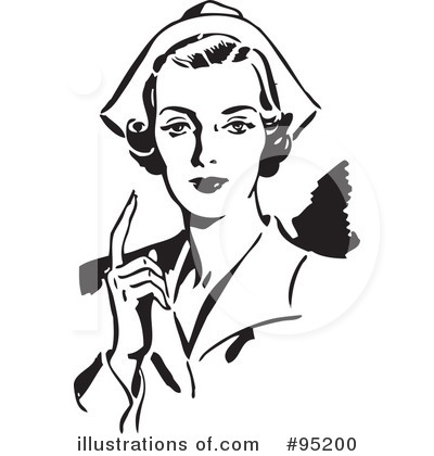 Nurse Clipart  95200 By Bestvector   Royalty Free  Rf  Stock
