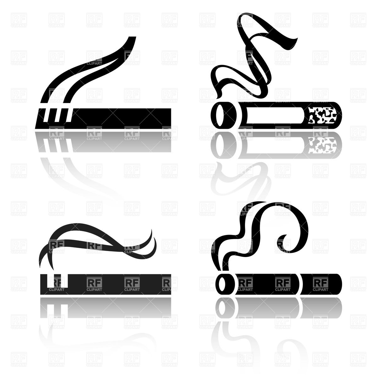 Of Smoking Cigarettes Download Royalty Free Vector Clipart  Eps