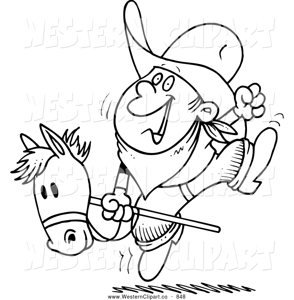 Royalty Free Stick Horse Stock Western Clipart Illustrations