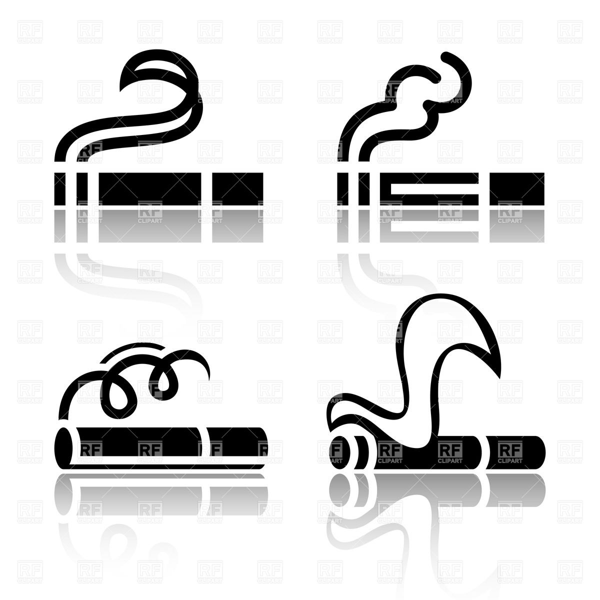 Simple Cigarette Icons 18088 Icons And Emblems Download Royalty