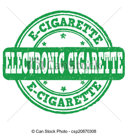Vector Clipart Of Electronic Cigarette Stamp   Electronic Cigarette