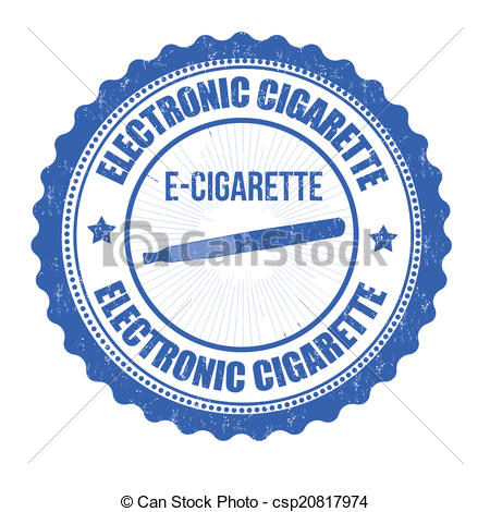 Vector   Electronic Cigarette Stamp   Stock Illustration Royalty Free
