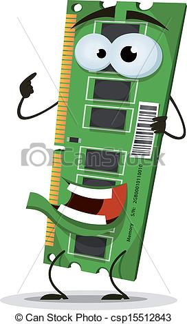 Vector   Ram Memory Card Character   Stock Illustration Royalty Free