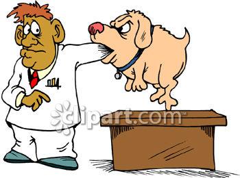 0808 2403 2122 Dog Biting Man Veterinarian Clip Art Clipart Image Jpg