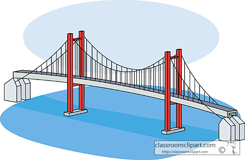 Cartoon Suspension Bridge cartoon bridge clipart - clipart kid